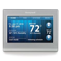 Honeywell Wi-Fi Smart Thermostat, Control from anywhere, via iPhone, iPad, Android and computer.The extreme flexibility of the Honeywell Wi-Fi smart thermostat allows you to uniquely program your device as either a home or business thermostat and then offers scheduling features specific to your home or business.