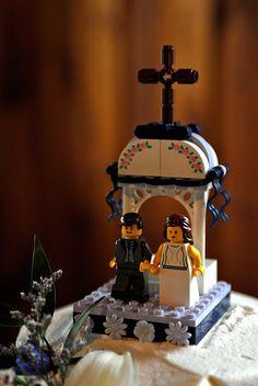 Topo de bolo feito de #Lego
