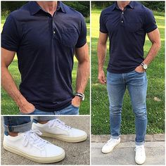Summer Must Haves  1)  Crisp white sneakers like these Vintage Royale @greatsbrand pair❗️ Pick them up before they sell out...because they will. 2) @dstld light wash denim - and now you can save a huge 20% off if you use code CM20 @dstld 3)  Great polos and @alexmillny makes some of the best  What are your summer must haves❓ • • • • • #denim #casualstyle #jeans #dailylook #fashionblog #fashiongram #polo #sneakers #vintage #lookoftheday #classicsneakers #menstyle #blue...