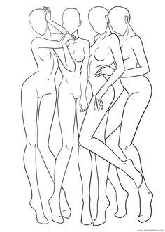 fashion figure template 18 outline 1 by Teya Bozhilova – Figure Template 18 Fashion Illustration Techniques, Fashion Illustration Poses, Fashion Illustration Template, Fashion Sketch Template, Fashion Figure Templates, Fashion Model Sketch, Fashion Design Template, Fashion Design Sketchbook, Illustration Mode