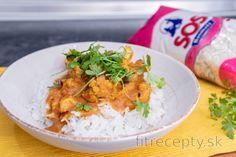 Perfektný karfiol na indický spôsob | fitrecepty.sk Low Calorie Recipes, Healthy Recipes, Curry, Paleo, Vegetarian, Lunch, Tofu, Meals, Smoothie