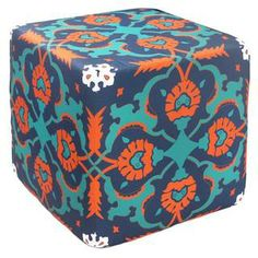 Blue Mosaic Outdoor Pouf Ottoman (India) | Overstock.com Shopping - Top Rated Ottomans