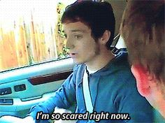 Elijah Wood is the cutest scared person ever. gif. Tumblr