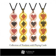 CAD Collection of Pendants with Playing Cards Cad Services, Washer Necklace, Pendant Necklace, 3d Cad Models, Jewelry Collection, Playing Cards, Collections, Pendants, Stuff To Buy