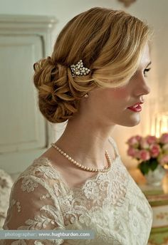 pinterest wedding hair updos | bridal hairstyles - wedding hair design / Pretty updo wedding ...