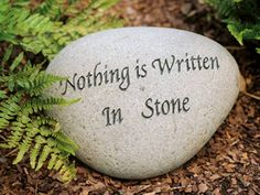 """oxymoron - a figure of speech in which apparently contradictory terms appear in conjunction This is an example of oxymoron as the statement """"nothing is written in stone"""", is in fact written in stone. Charleston Gardens, Urn Planters, Figurative Language, Perfect Couple, Garden Stones, Funny Signs, That Way, The Funny, How To Memorize Things"""