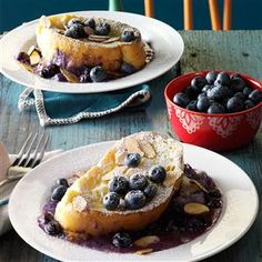 Baked Blueberry-Mascarpone French Toast Recipe