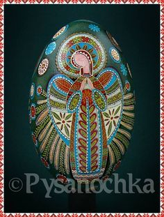 Angel pysanka.  Wow! This is gorgeous.