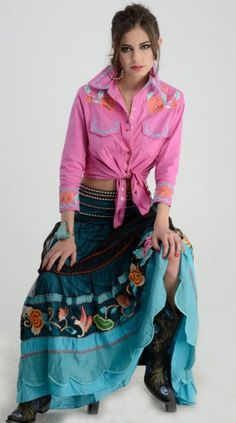 Vintage Collection Turquoise Shadow Skirt from Cowgirl Kim