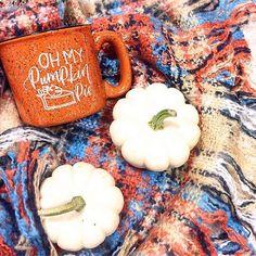 Pumpkin Mug for Thanksgiving - Thanksgiving Table  Decor