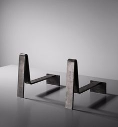 Jacques Quinet; Steel Andirons, 1962.