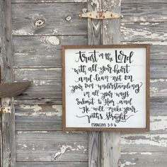 Trust in the Lord Proverbs 3:5-6 distressed wood by ImperfectDust
