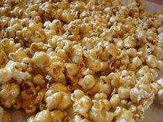 yummy salted caramel popcorn... Hmmm. Maybe with peanuts & candy corn mixed in for a group treat in the fall?...