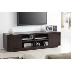 Furniture of America Irvine Contemporary 70-inch Entertainment TV Console | Overstock.com Shopping - The Best Deals on Entertainment Centers
