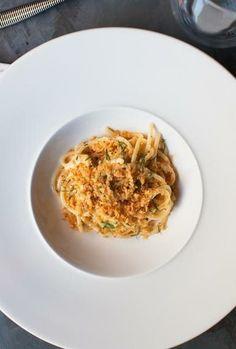Bucatini with smoked uni at All'onda in Union Square, NY. #ItalianRestaurants