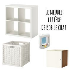 fabriquer un meuble liti re avec un casier ikea et une chati re id e pour la nouvelle. Black Bedroom Furniture Sets. Home Design Ideas