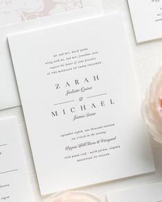 Zarah Letterpress Wedding Invitations - Letterpress Wedding Invitations by Shine