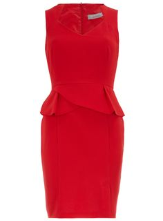 Petite red peplum dress - Petite Dresses - Dresses - Dorothy Perkins United States