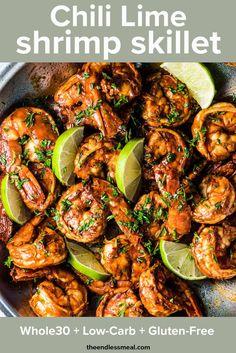 Chilli Lime Shrimp, Lime Shrimp Recipes, Chili Lime, Seafood Recipes, Paleo Recipes, Cooking Recipes, Lime Recipes Dinner, Whole30 Shrimp Recipes, Mexican Shrimp Recipes