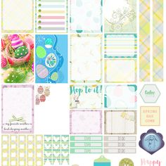 easter free happy planner stickers