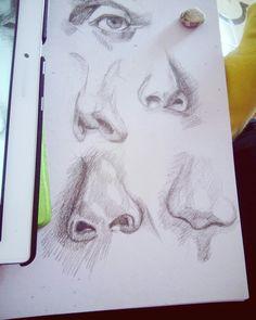 Рисунок человеческого носа #нос#арт#рисунок#штриховка#art#people#nose
