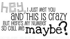 Carly Rae Jepsen - Call me maybe Cute Song Lyrics, Cute Songs, Best Songs, Music Lyrics, Pretty Quotes, Cute Quotes, Sing Me To Sleep, Carly Rae Jepsen, Call Me Maybe