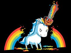 Wear your true spirit animal on your chest with pride! Get the Stabby the Unicorn t-shirt only at TeeTurtle! Unicorn Art, Rainbow Unicorn, Unicorn Horse, Chibi, Unicorns And Mermaids, My Spirit Animal, Cute Drawings, Funny Cute, Cute Art