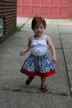 3 Fat Quarters = 2 Toddler Skirts Tutorial