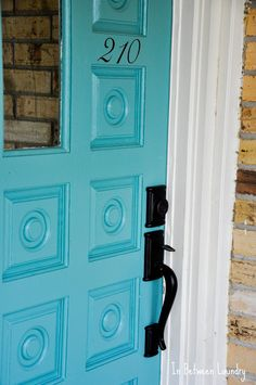 front door color and house number