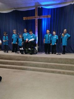 Our young lads & sis in wheelchair sung a song together for the program