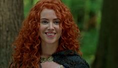 Queen Merida is a character on ABC's Once Upon a Time. She débuts in the first episode of the fifth season. She is portrayed by guest star Amy Manson. Merida is based on the character of the same name from the Disney/Pixar film Brave. Once Upon A Time, Black Fairy, Dark Swan, Last Rites, Princess Merida, Tv Guide, Redheads, The Darkest, Amy