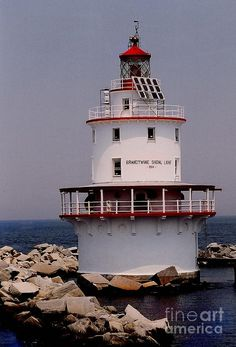 Brandywine Shoal Light in Delaware.