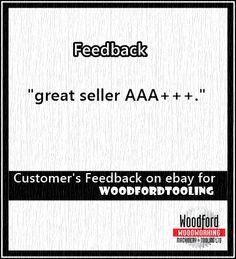 Customer's feedback earned on ebay.