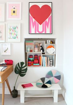 The box set frames were perfect for showcasing my design finds in my workspace.
