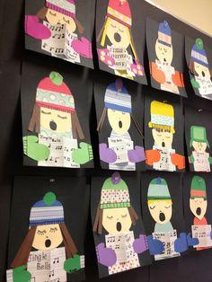 Miss Tweedle: Christmas Kids Art- Winter Carollers