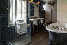C.P. Hart Case Study: 131 The Promenade. The brief for this project was to retain the Georgian heritage of the Grade II* listed villa, which had been derelict for seven years, while creating individually furnished bathrooms in all bedrooms and public areas. #bathroomideas #bathrooms #bathroominspiration