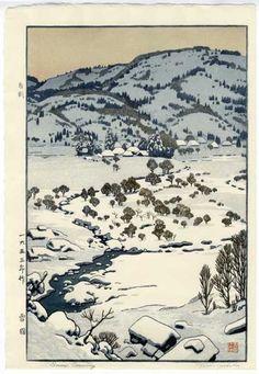 Toshi Yoshida (1911 - 1995)  Snow Country, 1955