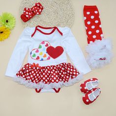 Fashion Love Heart Print Baby Girls Dress Cotton Valentines Festival Vestido Infantil Mesh Layer Ruffle Girl Christening Gowns