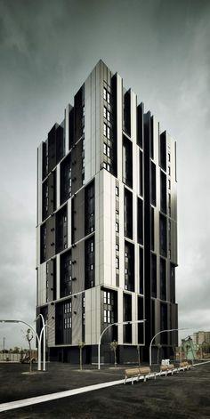 social housing tower, spain.