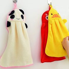 1pc Hand Towel Towels Microfiber Kids Children Cartoon Animal Panda Style Hand