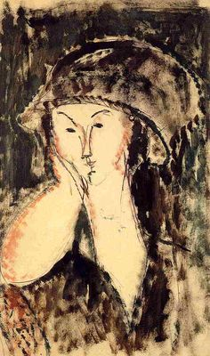 Beatrice Hastings Leaning on Her Elbow - Amedeo Modigliani 1914