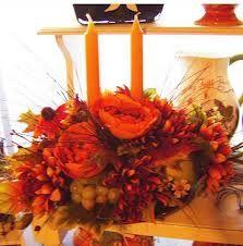 orange flower table arrangement