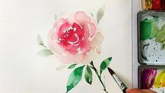 Watercolor Rose Painting Tutorial | Heimtextil 2018 Frankfurt