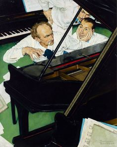 "Norman Rockwell - ""Jeff Raleigh's Piano Solo"", The Saturday Evening Post, May 27, 1939."