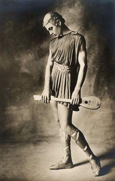 "Russian ballet dancer Serge Lifar in ""Apollon musagète"", Paris, 1928"