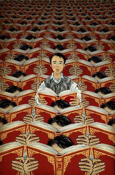 Choral reading, discordant note / Lectura coral, nota discordante (ilustración de Yuko Shimizu)
