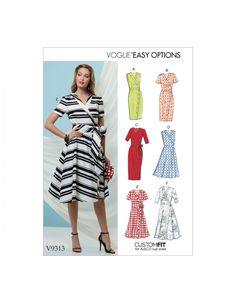 When it comes to fashion and style, Vogue Patterns is a leader in the fashion industry. The new Spring Vogue Patterns have just come . Vogue Patterns, Free Sewing, Vintage Sewing Patterns, Sewing Tips, Sewing Projects, Sewing Hacks, Apron Patterns, Pattern Sewing, Clothes Patterns