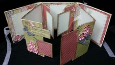 Multi-Fold Mini Album Standing Open by jwilson1364 - Cards and Paper Crafts at Splitcoaststampers