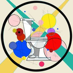 I have always loved the work that came from the Bauhaus school. Wassily Kandinsky taught there and was influenced by the work coming from the school. Toilet Art, A Perfect Circle, Colour Pallete, Mondrian, Wassily Kandinsky, Primary Colors, Kids Rugs, My Favorite Things, School