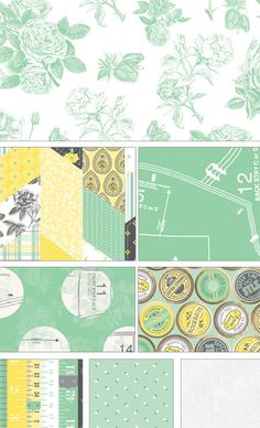 """NEW FABRIC LINE! """"Sew Charming"""" by Bo Bunny for Riley Blake Designs..adorable!"""